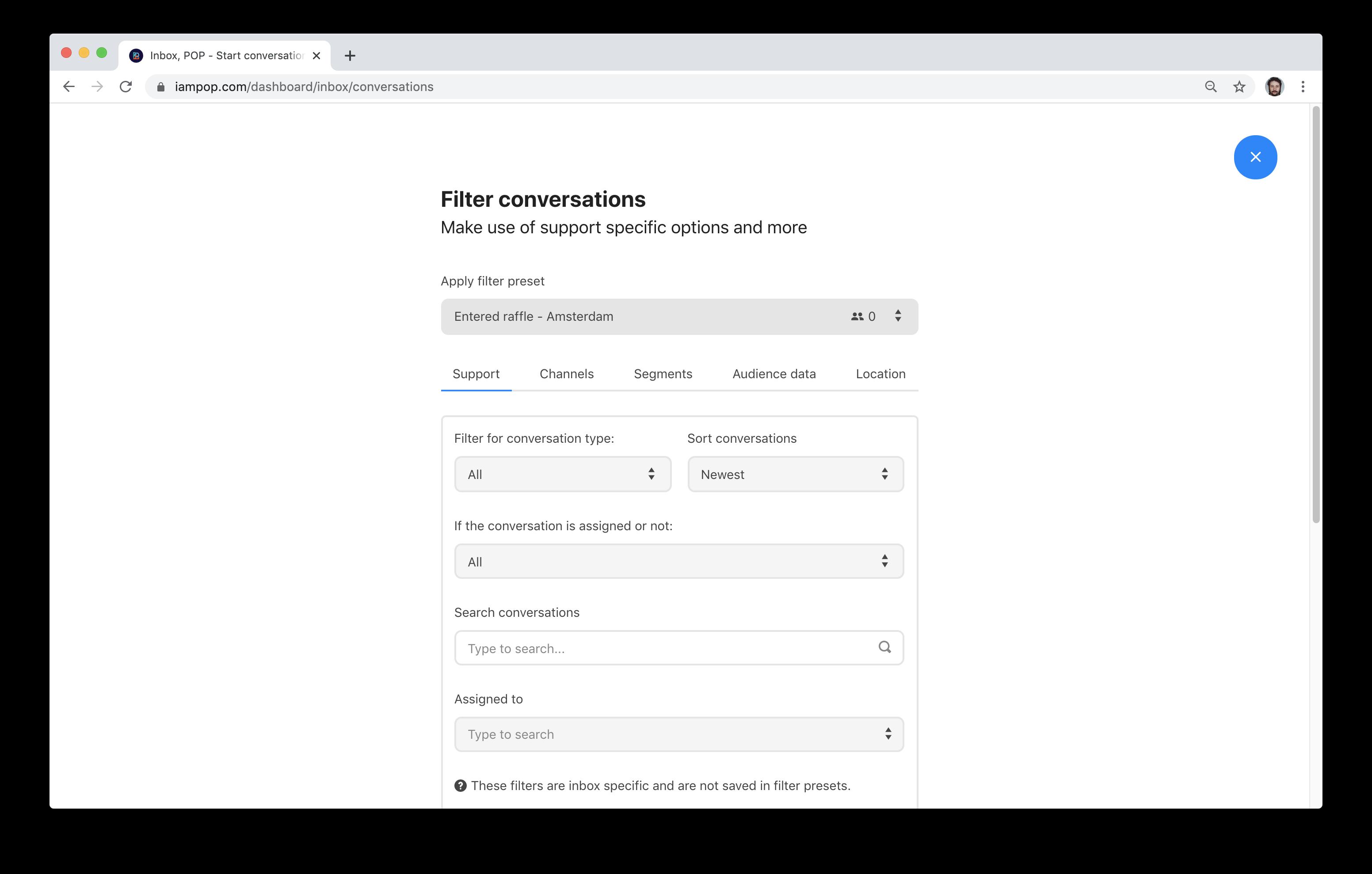 Applying-a-filter-preset-in-Inbox