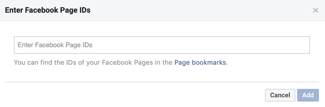 Entering your Facebook Page ID