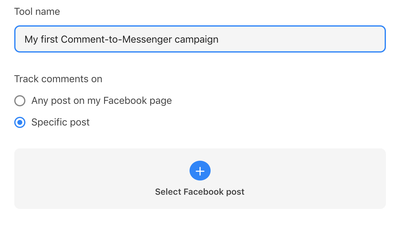 Name-your-Comment-to-Messenger-campaign-apply-it-to-a-specific-post