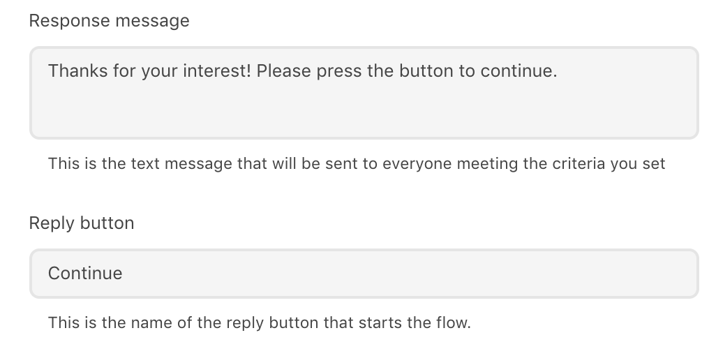 The-response-message-field