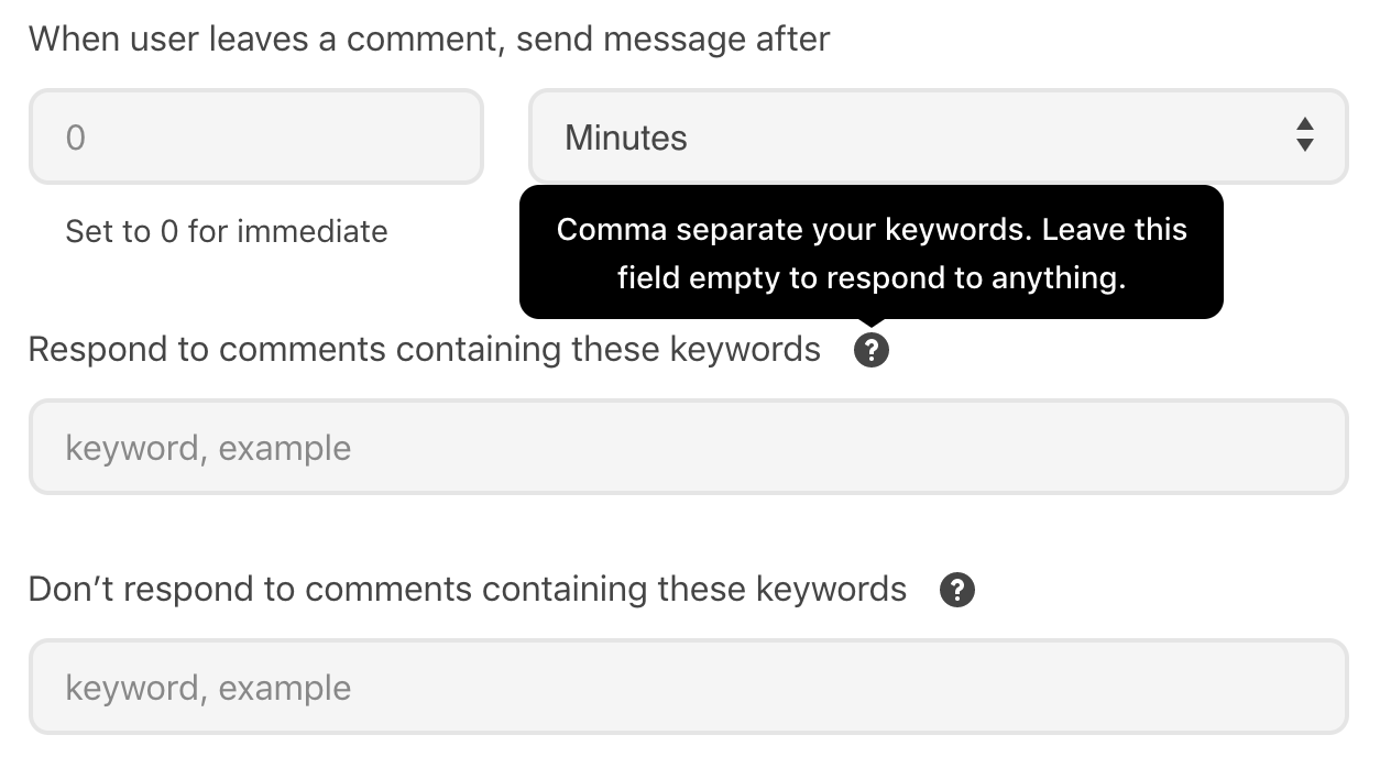 Which-keywords-in-Messenger-to-respond-to