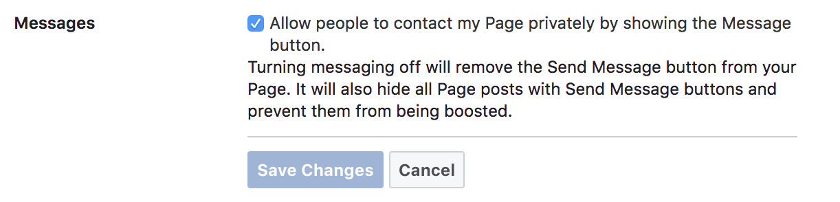 How to enable messaging on your Facebook page