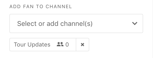 What it looks like when you add a channel