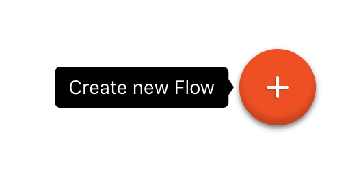 The create a new flow button
