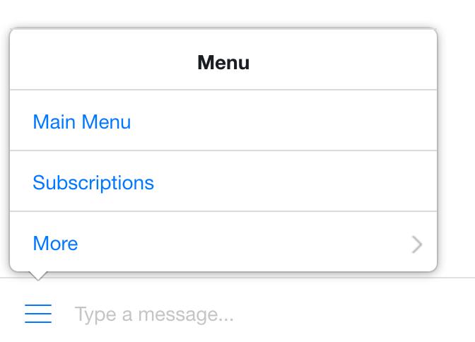 The persistent menu on desktop